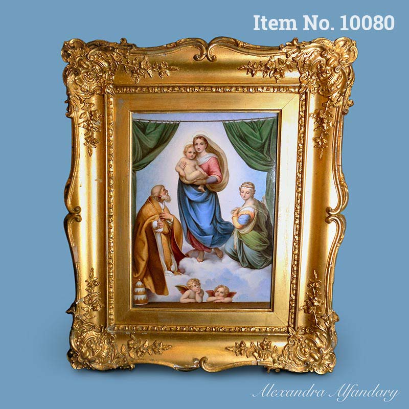 Item No. 10080: A Large Meissen Plaque with the Sistine Madonna, ca. 1880