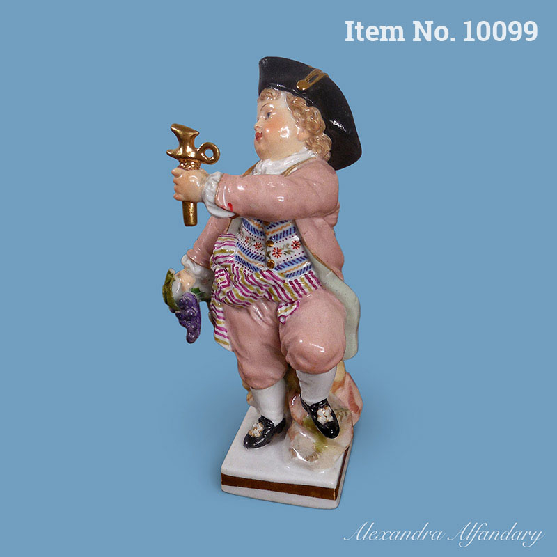Item No. 10099: A Small, Charming And Collectable Meissen Figure of a Vintner, ca. 1870-1880