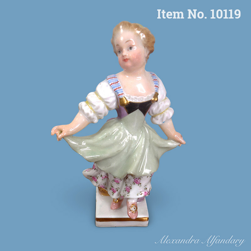Item No. 10119: A Small Meissen Collectable Figure Of A Dancing Girl, ca. 1880-1900