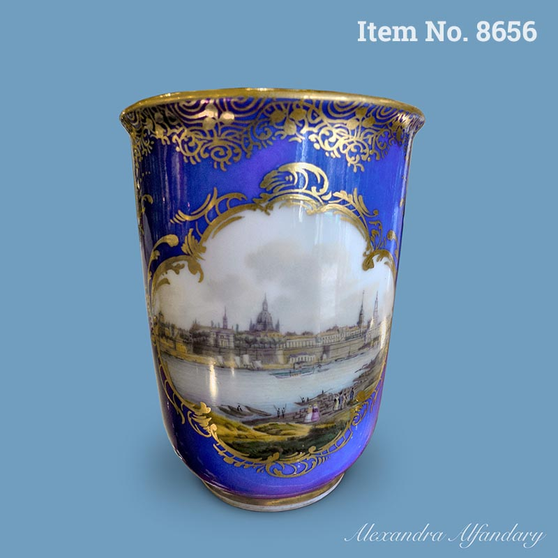Item No. 8656: A Meissen Topographical Beaker with finely painted scene of Dresden, ca. 1870