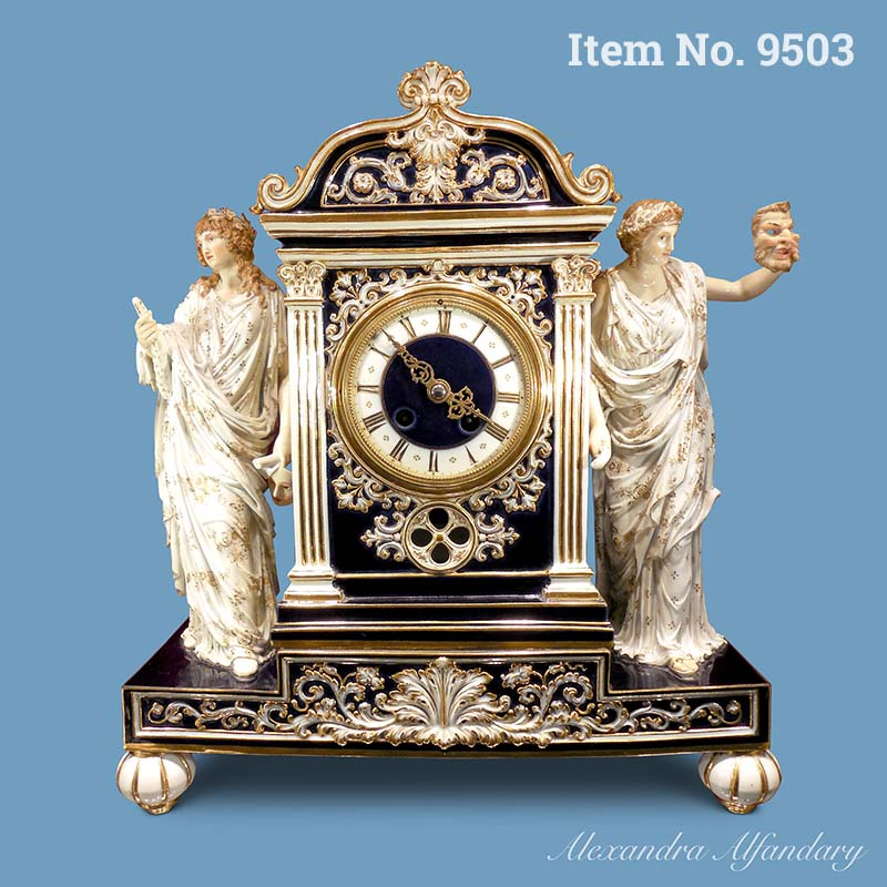 Item No. 9503: A Rare Neo Classical Meissen Clock, ca. 1880