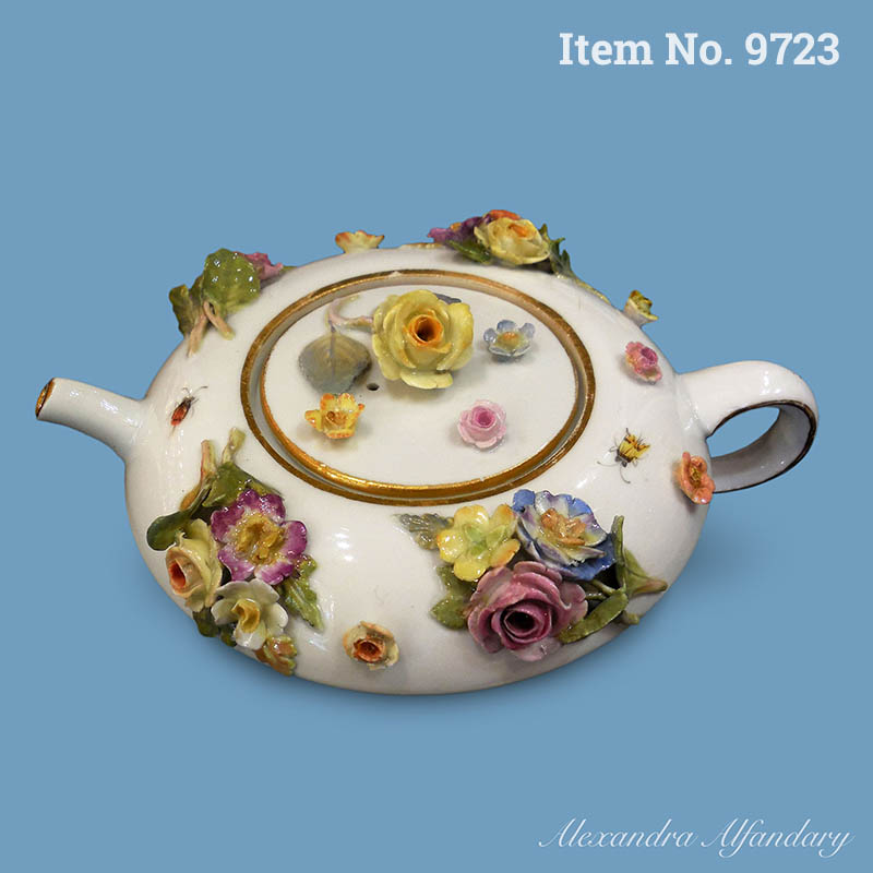 Item No. 9723: An Unusually Shaped Meissen Teapot And Lid For The Meissen Collector, ca. 1900