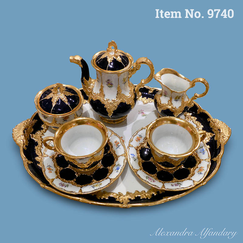 Item No. 9740: A Decorative Meissen Porcelain Cabaret Set, ca. 1890-1910