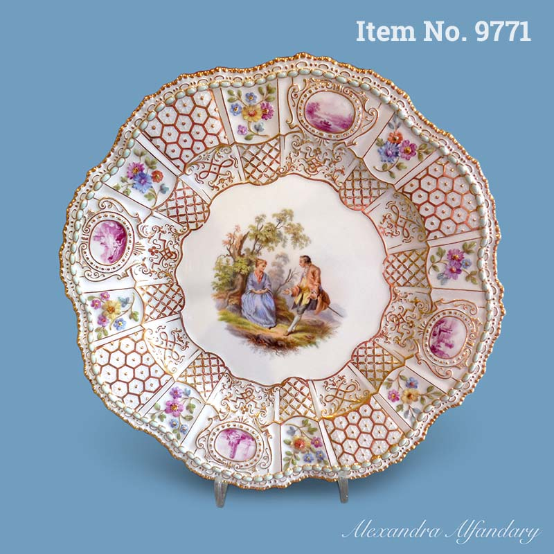 Item No. 9771: A Collectible and Unusually Decorative Meissen Plate, ca. 1880