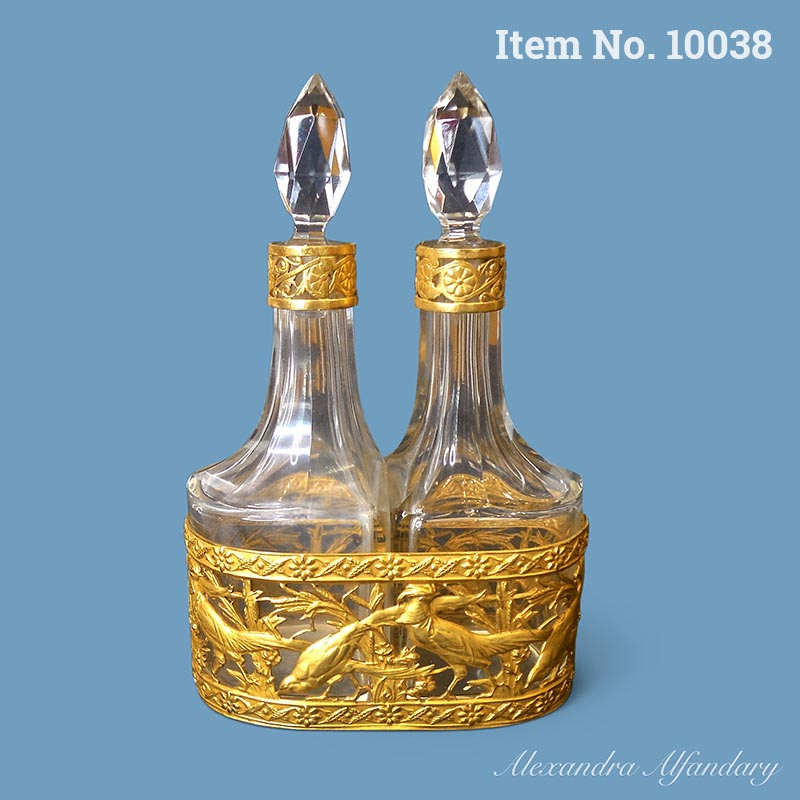 Item No. 10038 :A Beautiful French Scent Bottle Set From The Belle Epoque, ca. 1890-1900